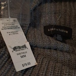 Lord & Taylor Sweaters - Lord & Taylor grey cowl neck sweater